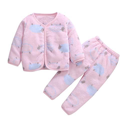 Xmiral Baby Mädchen Jungen Kurze Plüsch Warme Nachtwäsche Pyjamas Langarm Kleidung...