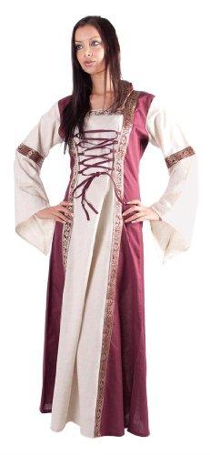Mittelaltergewand Kleid mit Schnürung, Festival-und LARP Kapuzenkleid - S/M