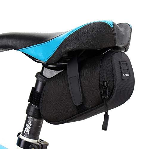 Lixada Bolsa de Bicicleta Equipaje de Montaña Bolsa de Cojín de Bicicleta Accesorios de Equipo Bolsa de Almacenamiento de Sillín Bolsa de Cola de Ciclismo