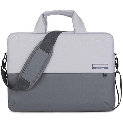 CASE U 15.6 Inch Soft Nylon Laptop Water Resistant Shoulder Messenger Bag (Grey)