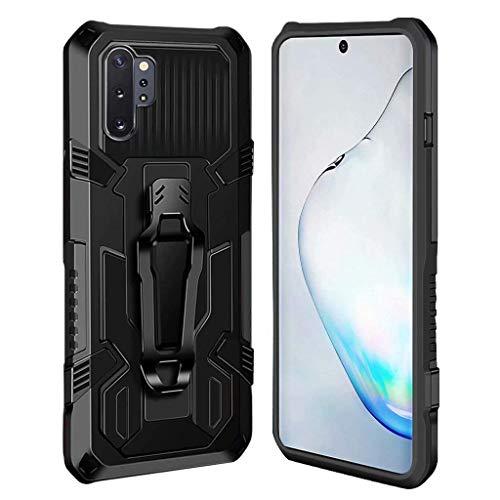 Ubrand DBLX Custodia per Samsung Galaxy Note 10 Plus, Cover [Militare][Anti-Graffio][Clip da Cintura][Stand][Supporto], Cover all'aperto Bumper Antiurto Case - Nero