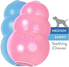 KONG KP24 Puppy Toy - Natural Teething Rubber - Fun to Chew, Chase and Fetch ( Colors May Vary), 035585131214, Medium, Assorted Pink or Blue