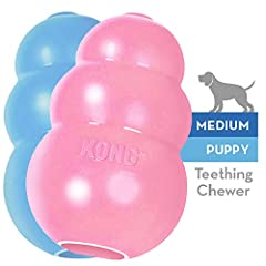APPROPRIATE CHEWING: The KONG Puppy soft rubber formula is customized for a growing puppy's baby teeth and gums. This gentle, but long lasting toy helps satisfy instinctual needs and provides mental stimulation. By encouraging healthy play and satisf...