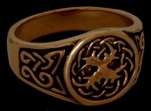 Battle-Merchant Bronzener Keltenring, Weltenesche Yggdrasil Ring Bronzering LARP Wikinger Mittelalter Verschiedene Größen (15/48)