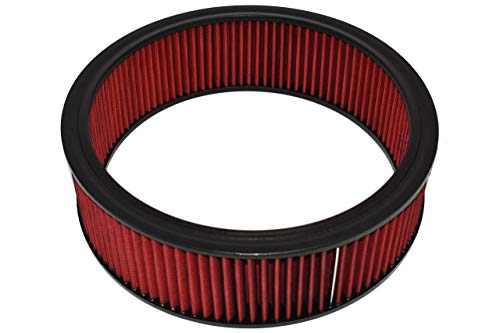 A-Team Performance Air Filter Element Air Cleaner High Flow Replacement Washable and Reusable Round Cotton Fiber Compatible with Buick Chevrolet GMC Ford Mopar Oldsmobile Pontiac (14X4)