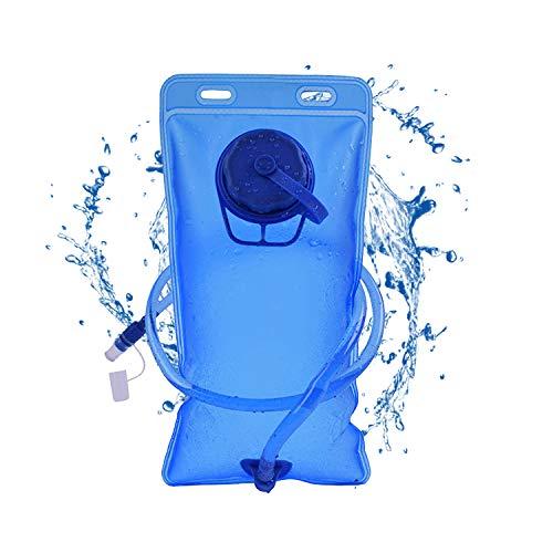 Happylohas 2l Bolsa hidratacion, Mochila hidratacion Bicicleta, Bolsa de Agua, hidratación portátil, Bolsa de Mochila de hidratación para Senderismo, Camping (Apertura giratoria-Azul)
