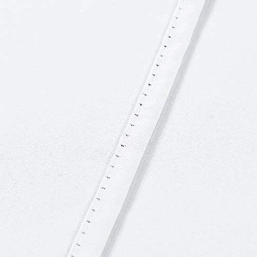 "White Tie Up Top Valance for Windows 18 Inch Length Room Darkening Adjustable Valance Window Treatments Rod Pocket Tie-up Short Straight Curtain Valance for Kitchen Bedroom Nursery 52""X18"""