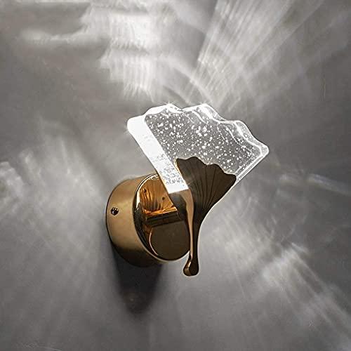 Chanety 5W LED Lámpara de pared de cristal, lámpara de pared moderna creativa dormitorio Lámpara de noche Lámparas de pared Restaurante Hotel Cafe Escalera de pandillas Lámpara de pared de iluminación