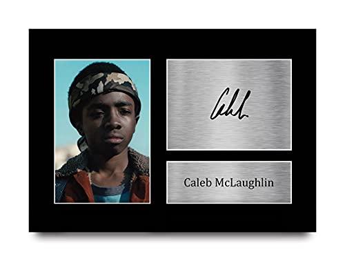 HWC Trading Caleb McLaughlin Stranger Things Lucas Sinclair Photo imprimée avec autographe pour Fans de télévision – A4