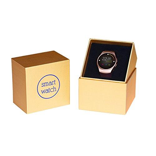 YongRedSeven Smart Bluetooth-Uhr & Digital Handgelenk Uhren für Damen, Video Wiedergabe/Herzfrequenz Test/Sleep Überwachung Smart Uhren