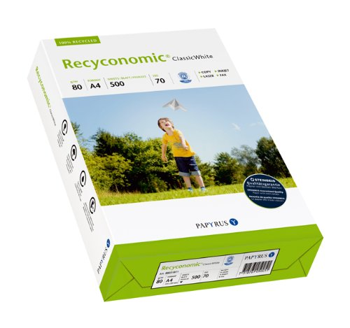 Papyrus 88031811 gerecycled printerpapier Recy✮ic classicwhite, 80 g/m2, A4, 500 vellen, CIE-wit: 55 (recycling-grijs)