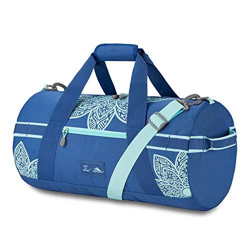 High Sierra Life Is Good Mandala Cargo Duffel Bag, Vintage Blue/Bermuda Blue Montana