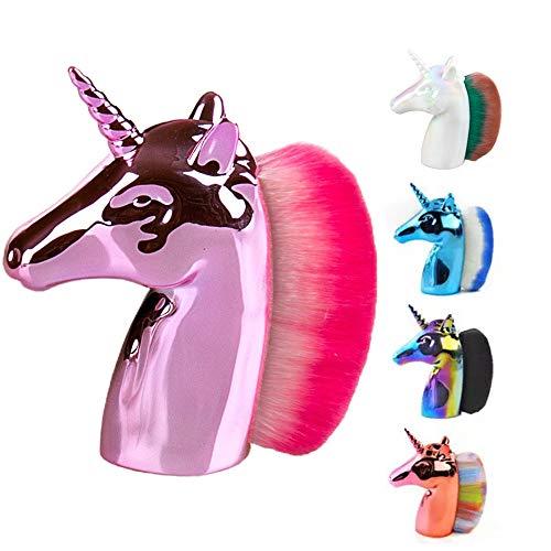 Black Deals Friday Cyber Deals Monday Deals - Brocha de maquillaje con unicornio, corrector de maquillaje y base de unicornio, ideal como regalo para niñas y mujeres rosa rosa