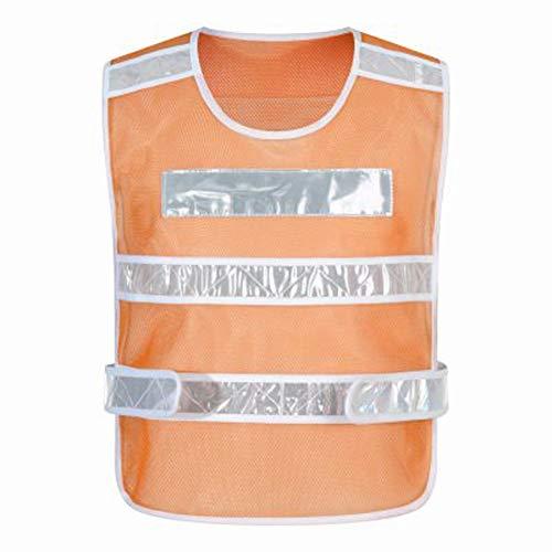 ZEQUAN Reflektierende Weste Hohe Sichtbarkeit Outdoor Nachtaktivitäten Oder Bauarbeiter Kleidung Sicher und komfortabel (Color : Orange)