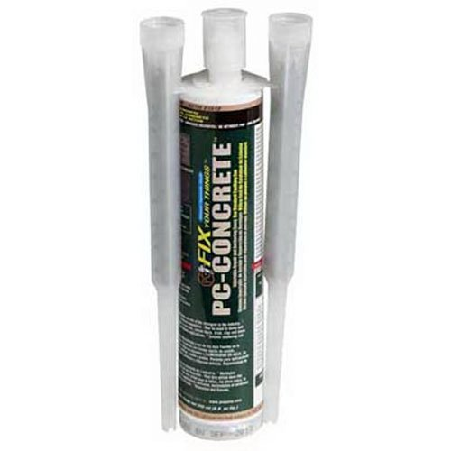 PC Products 72561 PC-Concrete Two-Part Epoxy Adhesive Paste for Anchoring and Crack Repair, 8.6 oz Cartridge, Gray