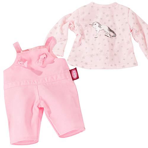 Götz 3403212 Babykombi Sparkling Unicorn - Puppenbekleidung Gr. S - 2-teiliges Bekleidungs- und Zubehörset für Babypuppen von 30 - 33 cm