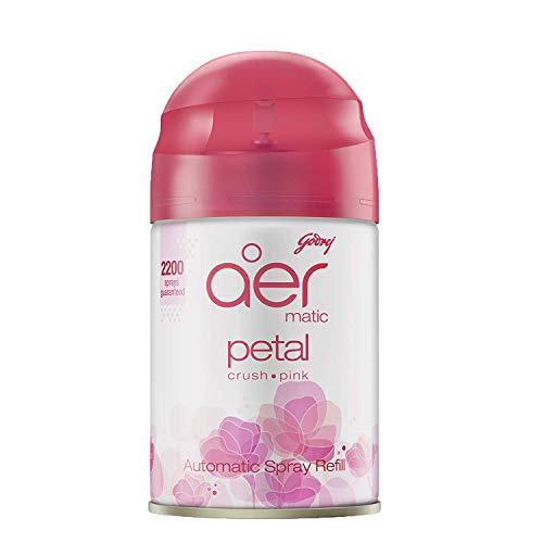 Godrej aer matic, Automatic Air Freshener Refill Pack - Petal Crush Pink (225 ml)