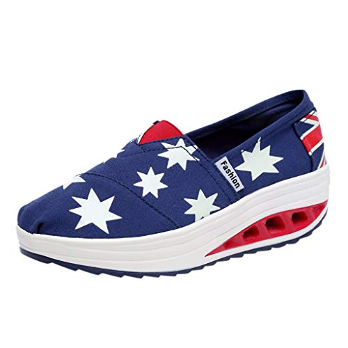 MTENG Women's Fashion Casual Sports Running Sneakers Thick Bottom Shake Canvas Shoes 4th of July...