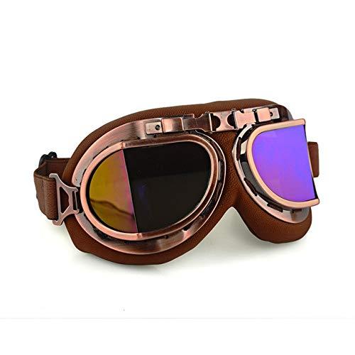DFGDH Gafas De Moto Gafas De Moto Gafas De Motocross Gafas De Moto Retro Gafas De Sol Cafe Racer Protección