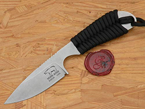 White River WRBP-PBL Tool Backpacker Black Paracord Handle Stain Ionbond Blade Hunting knife