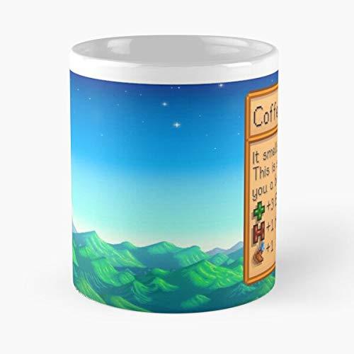 mconcepts Valley Coffee Stardew Mug Essen Sie Essen Biss John Best 11oz Unze weiße Keramik Kaffeebecher