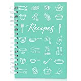 Teal Petal Blank Recipe Book To Write In Your Own Recipes - Recipe Journal, Hardcover Recipe Notebook Cookbook Wedding Bridal Shower Gift for Bride Engagement Gift Box, 5.75x8.75' Teal Utensils