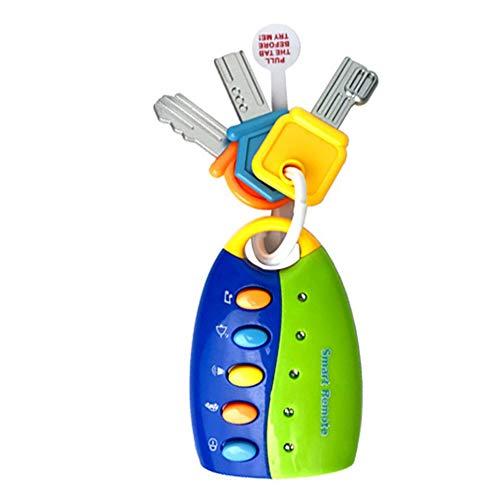 CVBN Fun Keys Toy Funkey Llaves de Juguete para niños pequeños Llaves de Coche de Juguete con luz y Sonidos, Azul