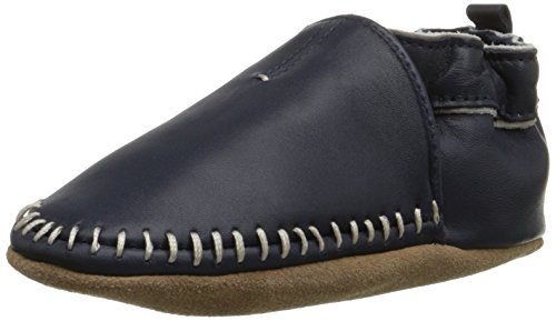 Robeez Classic Moccasin Crib Shoe (Infant), Navy,...
