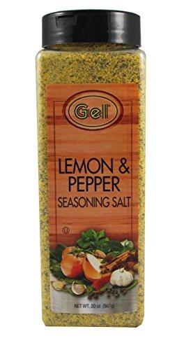 GEL Brand Gourmet Lemon Pepper Seasoning 20 oz Family Size Jar