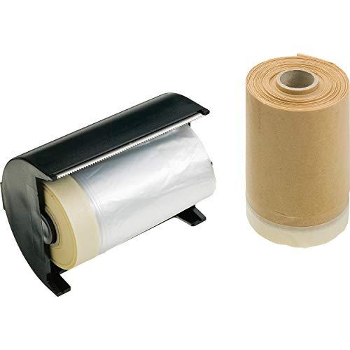 LUX-TOOLS Folie und Klebeband-Set | Malerfolie aus stabilem Polyethylen (PE) mit Flachkrepp