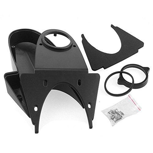 Komplett Set Ersatzgehäuse für Nachrüst Transporter Aufbau Rückfahrkamera (schwarz)