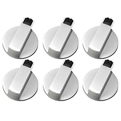 6 Stk 6MM Universal Metall Rotary Schalter Steuer Knöpfe Ersatz Zubehör für Küche Herd Gas Herd Ofen Koch