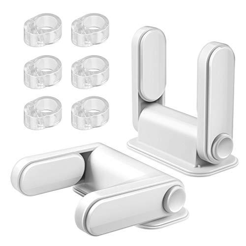 Yosemy 6 X Türstopper & 2 X Baby Sicherheit Türdrückerschloss, Türklinkenpuffer Zum Schutz Von Wänden Und Möbeln, Kindersicherung Fenster Verhindern Sie das Öffnen der Tür, Leicht anzubringen