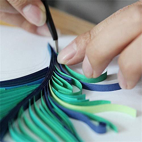 byou Quilling Strisce di Carta,Set di Strisce di Carta per Quilling 900 Pesci 5mm Colori Assortiti per Mestieri 39cm Lunghezza