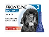FRONTLINE Spot On Flea & Tick Treatment for XL Dog (40-60kg) 3 Pipettes