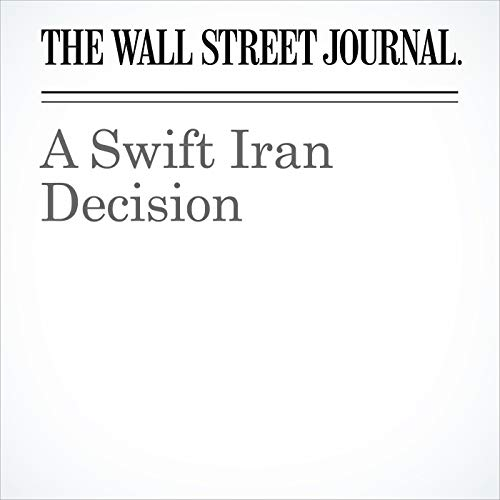 A Swift Iran Decision copertina