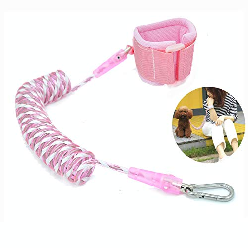 MAGIC PETAL Hands Free Dog Leash, Retractable Dog Leash with Bold Wire and Reflective Strips for Small Medium Dogs,Dog Walking Belt, Running Leash