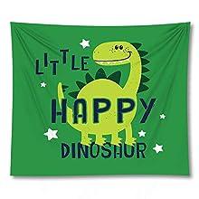PPOU Tapiz de Animales de Dibujos Animados, Manta de Toalla de Dinosaurio de Playa montada en la Pared, decoración de la Pared del hogar, Tapiz, Tela de Fondo A10 73x95cm