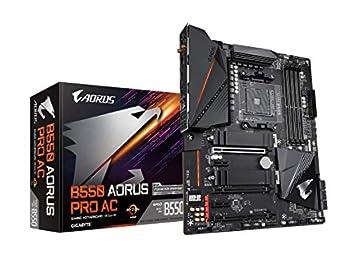 GIGABYTE B550 AORUS PRO AC  AM4 AMD/B550/ATX/Dual M.2/SATA 6Gb/s/USB 3.2 Gen 2/Intel Dual Band 802.11AC WiFi/2.5 GbE LAN/PCIe 4.0/RGB Fusion 2.0/DDR4/Gaming Motherboard