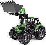 Lena Worxx 4613 Deutz-FAHR Agrotron 7250 TTV con Cargador Frontal, Aprox. 45 cm, vehículo de Juguete agrícola para niños a Partir de 3 años, Tractor Robusto con Pala de Carga Funcional