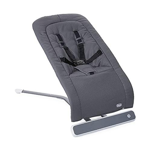 Chicco RhythmnSound Elektronische Babywippe für Babys von Geburt bis 9 kg, Babyschaukel mit Naturgeräuschen und Schlafliedern, Automatische Babywippe, Verstellbare Rückenlehne