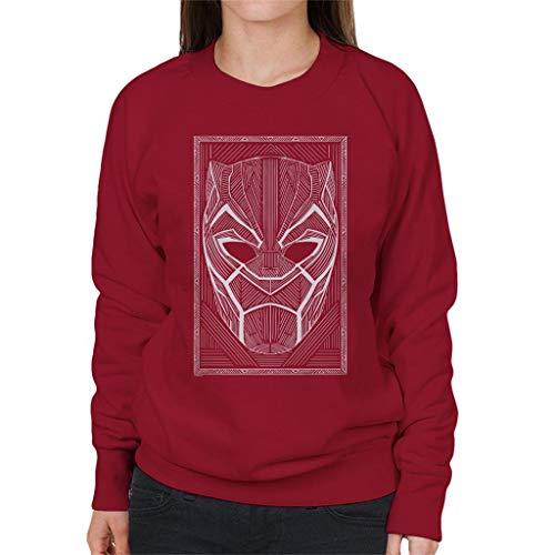 Marvel Zwarte Panter Masker Wakanda Line Art Style Vrouwen Sweatshirt