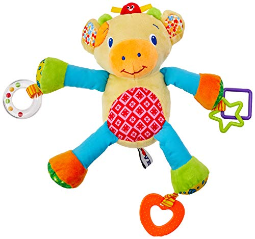 Love 3084, Chocalho com Mordedor Atividades Girafa, Multicor