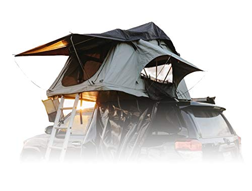 """Offroading Gear Rooftop Tent (RTT), 48"""" x 84"""" x 50"""", Fits 2 People, for Truck/SUV/Car/Etc. - Tan"""