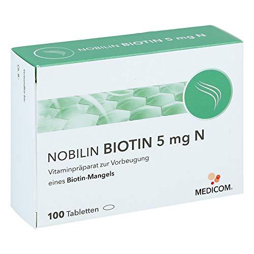 NOBILIN BIOTIN 5 mg Tabletten gegen Biotinmangel, 100 St. Tabletten