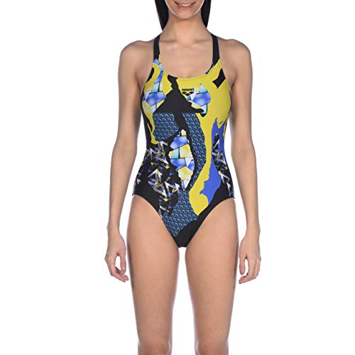arena W Swim Pro Back One Piece Sport-Badeanzug Damen Paintings M schwarz