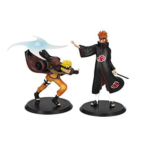 Naruto Figure, Naruto Anime Actions Figures Statue Figurine Toy 3D Model Figure [Naruto&Pain Minato 2 Pack Set]