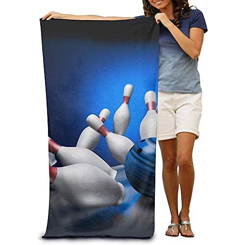 utong Toallas de Playa 100% algodón 80x130cm Toalla de Secado rápido para Nadadores Bowling Beach Blanket
