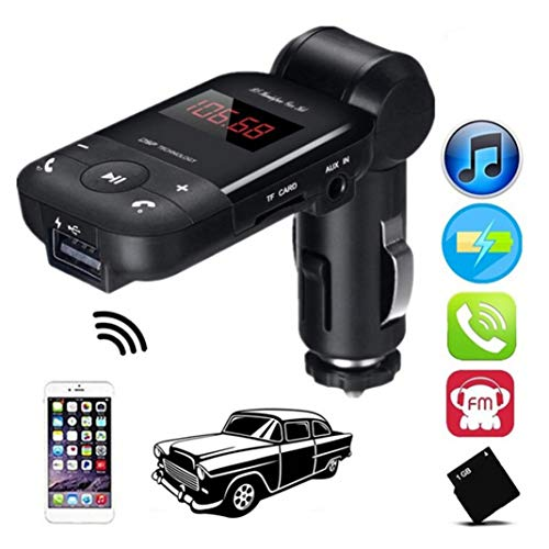 YSHtanj FM-Transmitter für das Auto, Video-Player und Zubehör, Adapter, Bluetooth, Freisprechanlage, FM-Transmitter MP3 Musik-Player USB-Ladegerät – Schwarz
