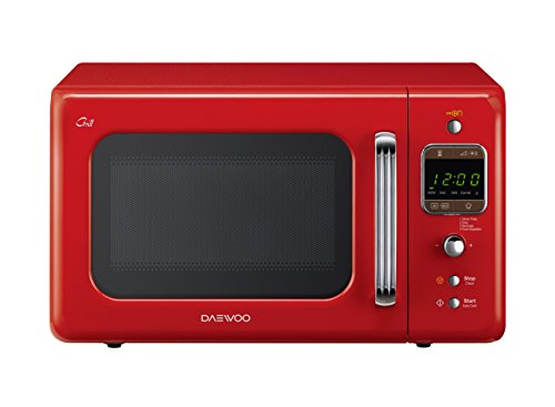 Daewoo KOG-6LBR Forno a Microonde 20 Lt Vintage Style Con Grill, Rosso